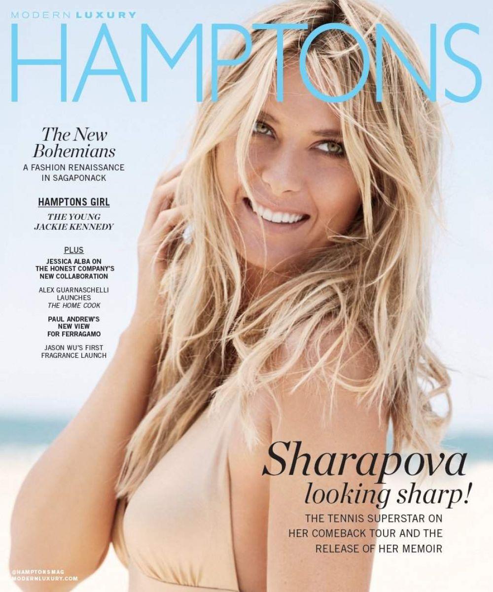 MARIA SHARAPOVA in Hamptons Magazine, August 2017