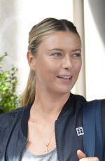 MARIA SHARAPOVA Leaves Her Hotel in New York 08/24/2017