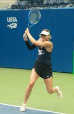 MARIA SHARAPOVA Practicing at Arthur Ashe Stadium at Usta Billie Jean King National Tennis Center 08/26/2017