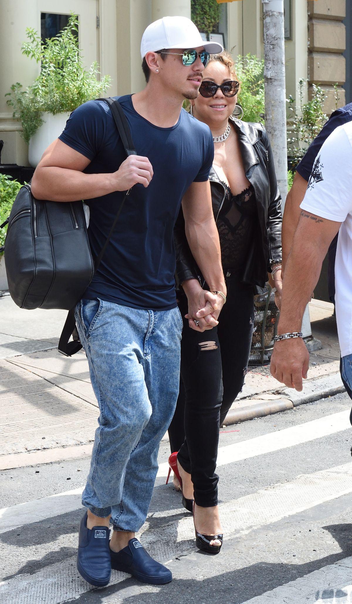 MARIAH CAREY and Bryan Tanaka Out in New York 08 16 2017. MARIAH CAREY and Bryan Tanaka Out in New York 08 16 2017