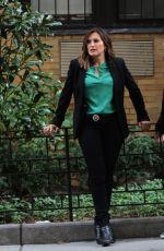 MARISKA HARGITAY on the Set of Law and Order: SVU in New York 08/08/2017