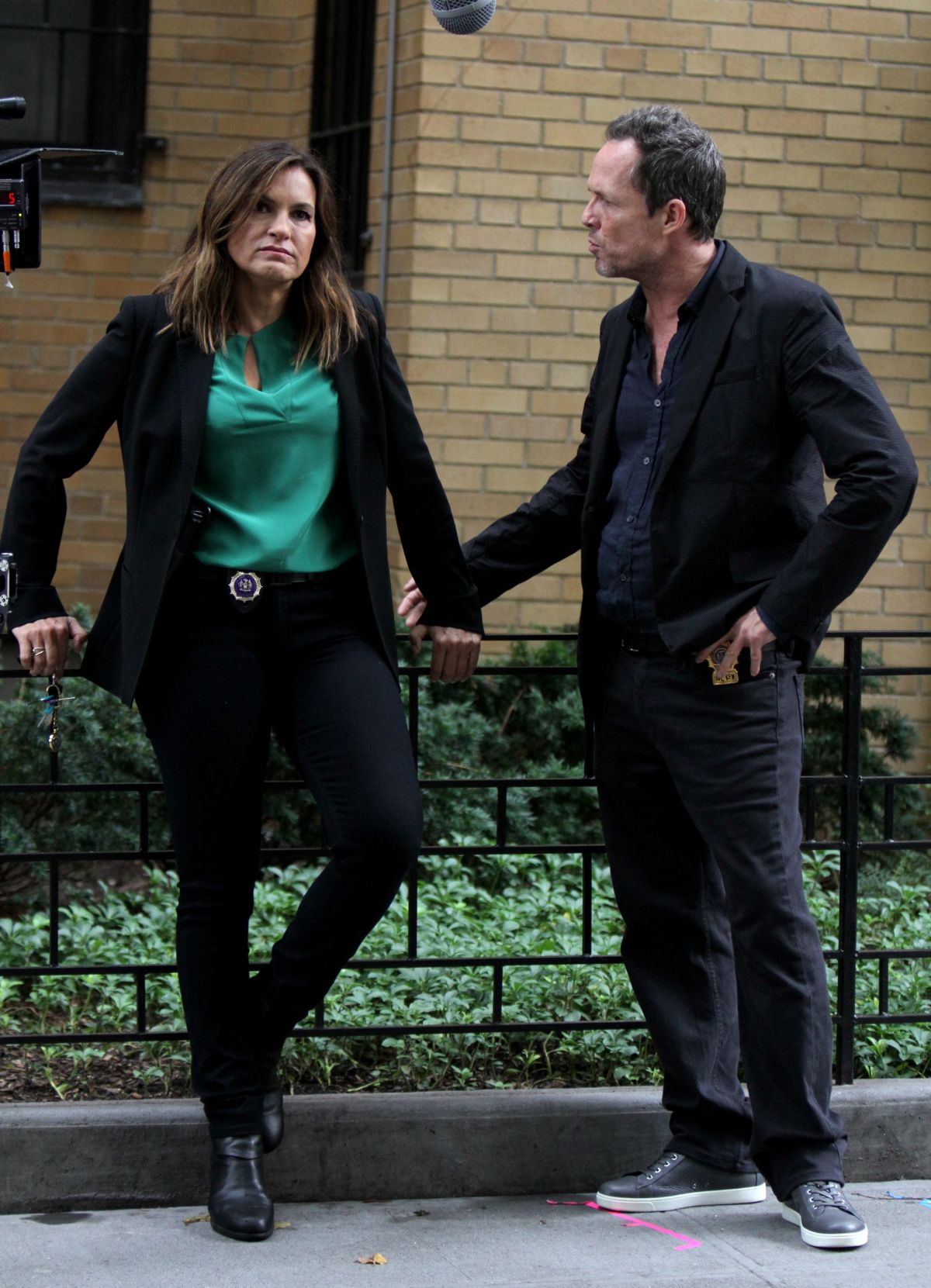 Mariska Hargitay On The Set Of Law And Order Svu In New