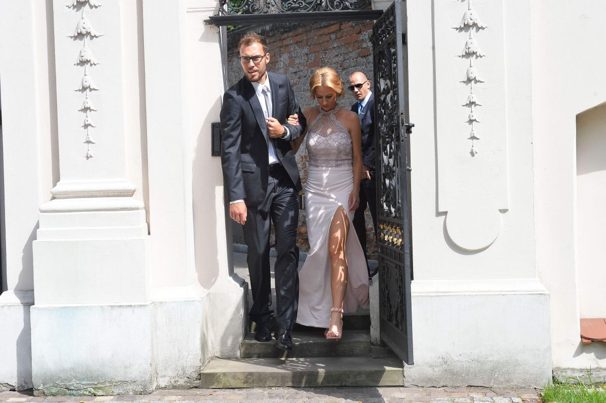 MARTA DOMACHOWSKA at Agnieszka Radwanska Wedding in Cracow