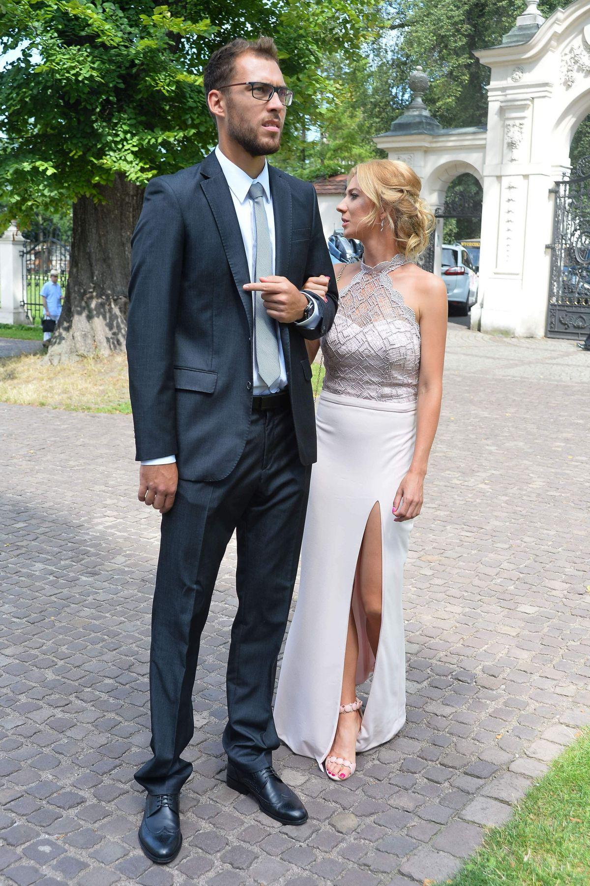 Marta Domachowska At the Wedding of Agnieszka Radwanska in
