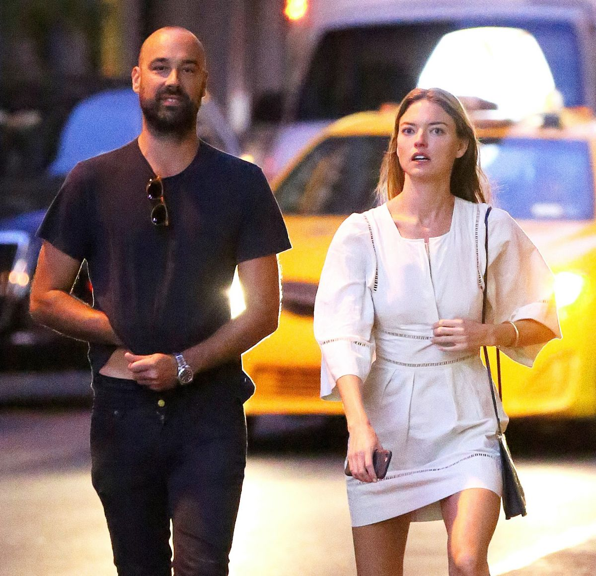MARTHA HUNT and Jason McDonald Out in New York 08/16/2017