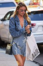 MARTHA HUNT Out and About in New York 08/23/2017