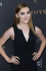 MEG DONNELLY at Emmys Cocktail Reception in Los Angeles 08/22/2017