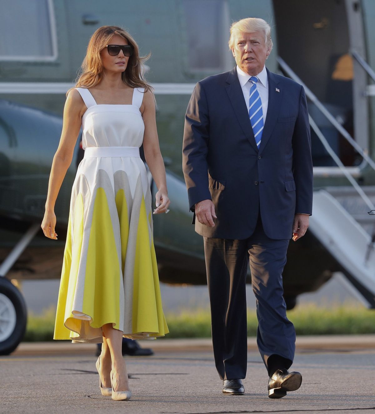 MELANIA TRUMP Arrives Back at White House in Washington D.C. 08/20/2017