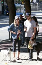 MELISSA BENOIST and Chris Wood Walks Their Dogs on National Dog Day in Vancouver 08/26/2017