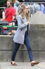 MELISSA BENOIST on the Set of Supergirl in Vancouver 08/30/2017