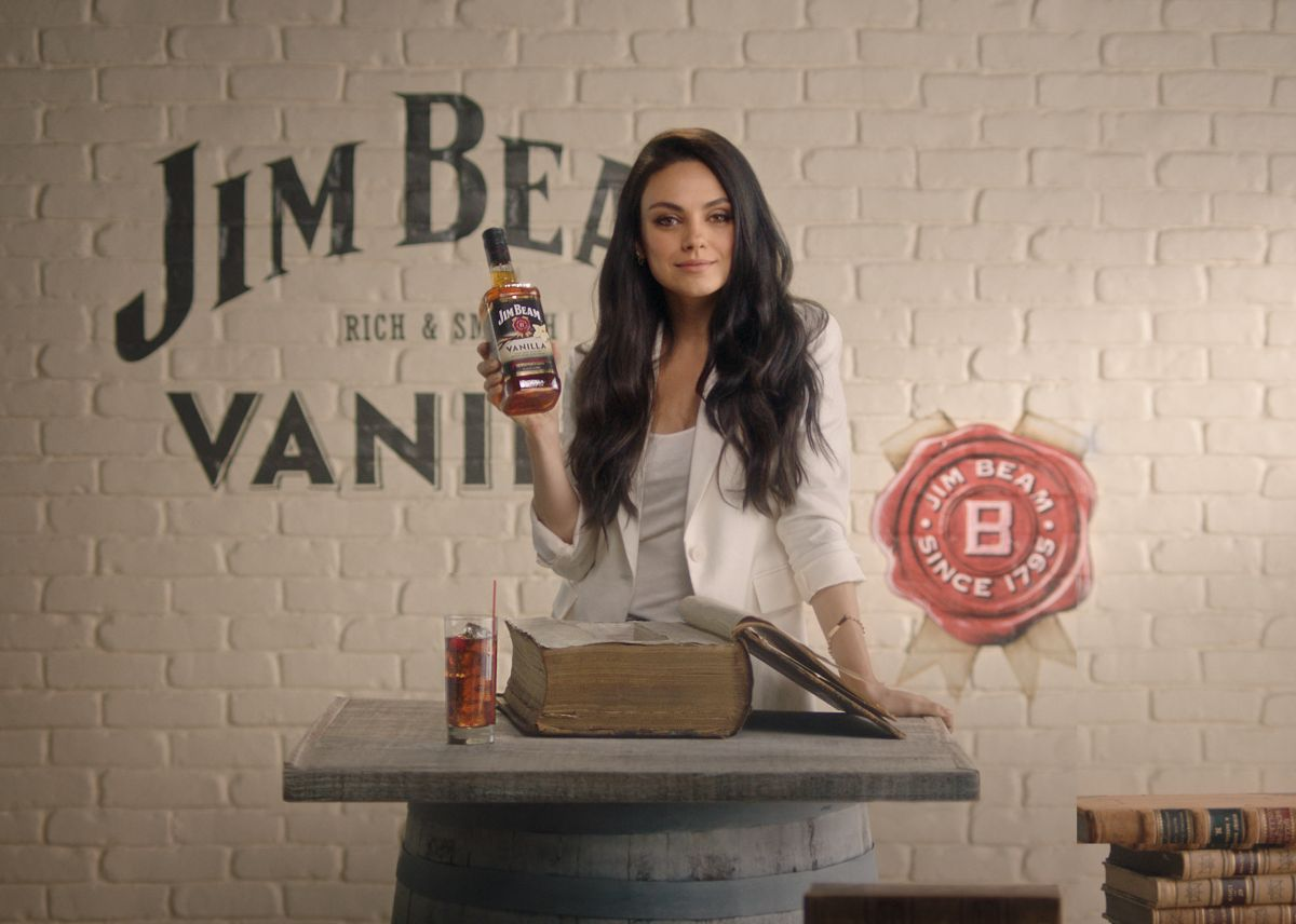 MILA KUNIS for Jim Beam Vanilla, 2017