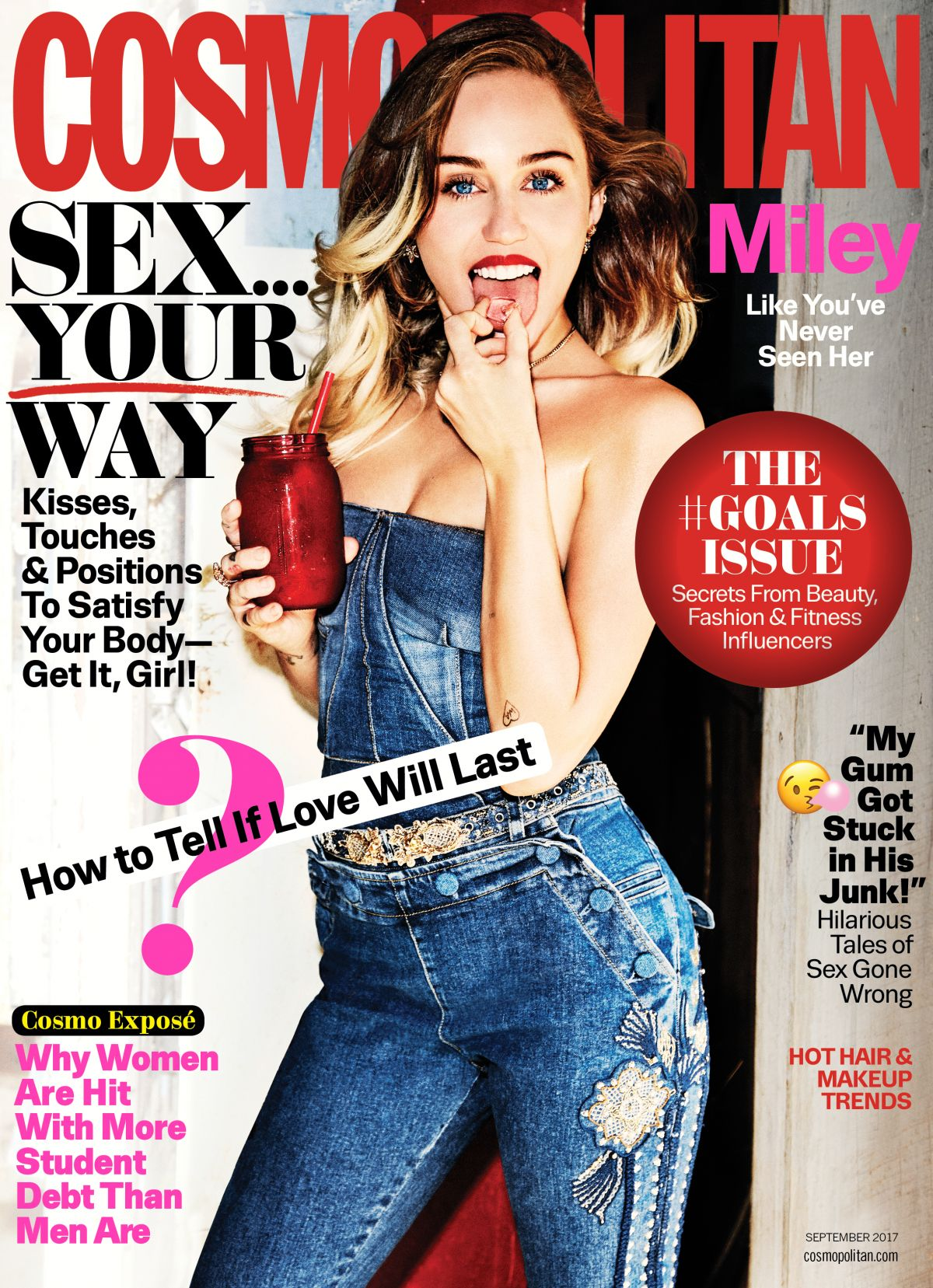 MILEY CYRUS for Cosmopolitan Magazine, September 2017
