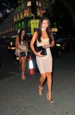 MONTANA BROWN Arrives for Her Birthday Party at STK Restaurant in London 08/26/2017