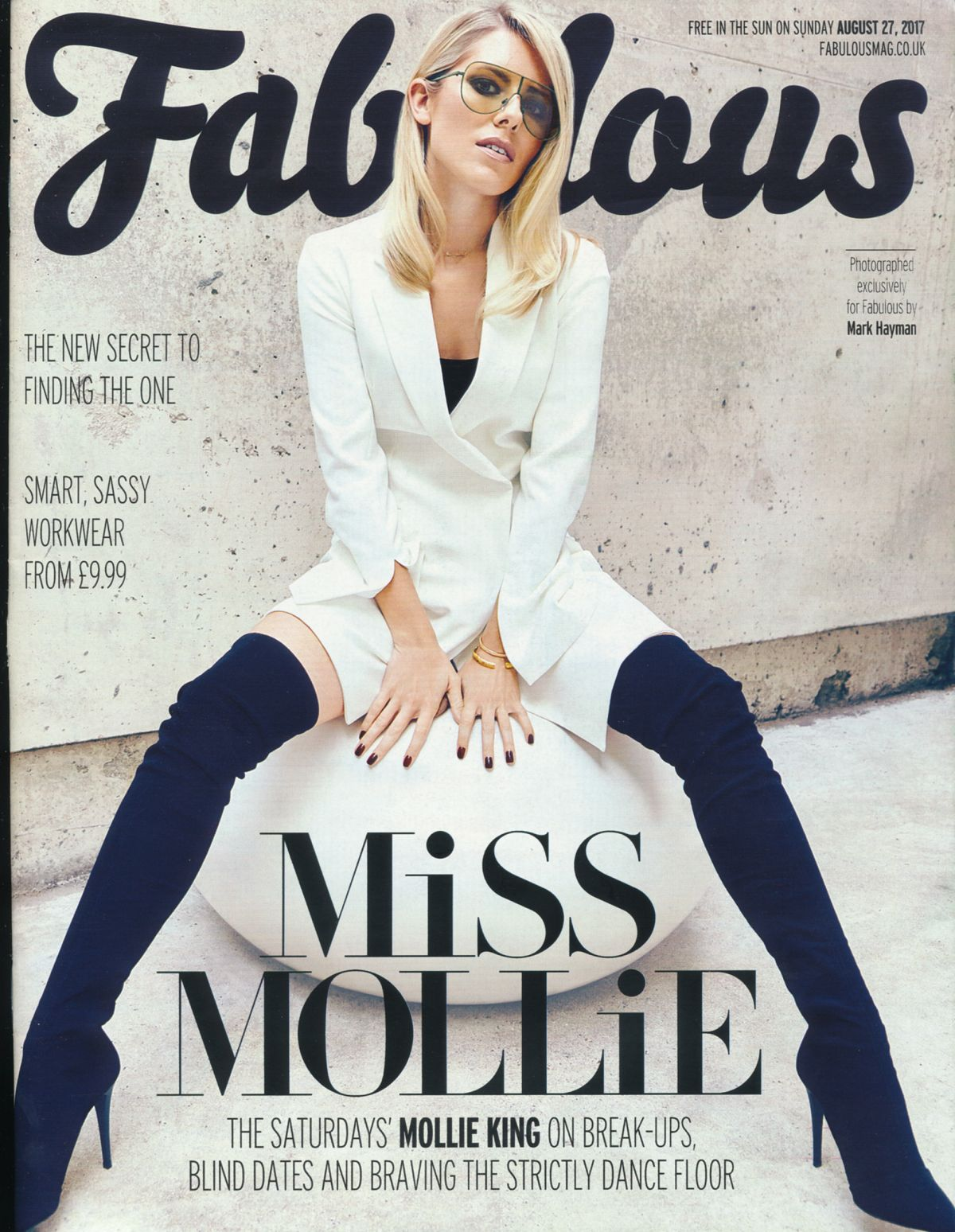 MOLLIE KING in Fabulous Magazine, August 2017