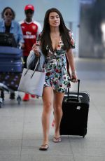 MONTANA BROWN at Heathrow Airport in London 08/13/2017