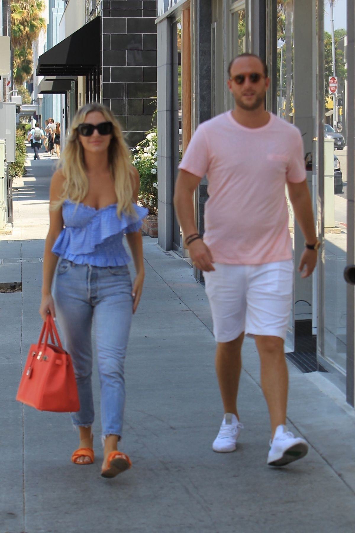 MORGAN STEWART And Brendan Fitzpatrick Out Shopping In