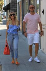 MORGAN STEWART and Brendan Fitzpatrick Out Shopping in Beverly Hills 08/05/2017