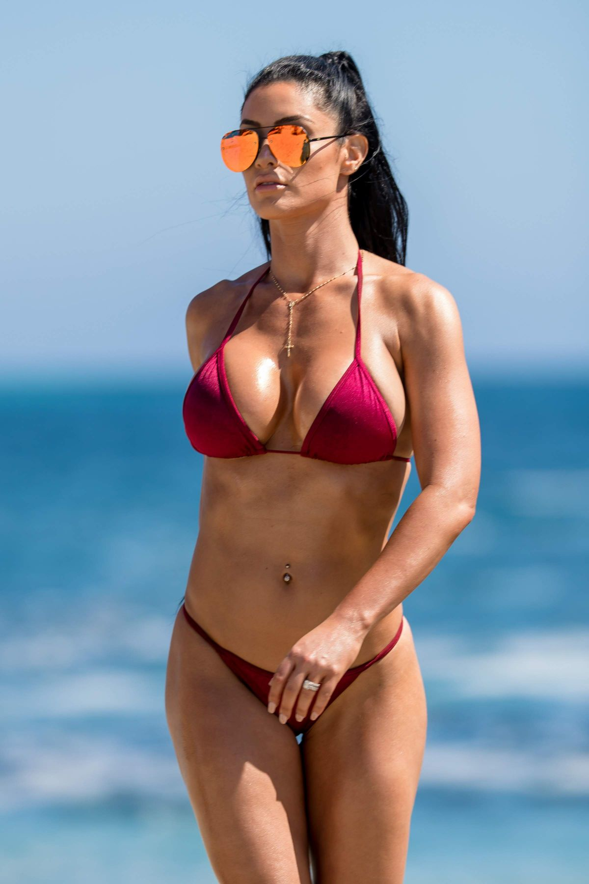 NATALIE EVA MARIE in Bikini on the Set of a Photoshoot on Laguna Beach 08/16/2017