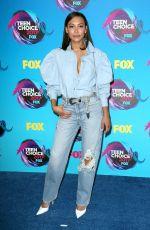 NAYA RIVERA at Teen Choice Awards 2017 in Los Angeles 08/13/2017