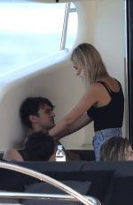 NICOLA PELTZ and Anwar Hadid at a Yacht in St. Tropez, 08/15/2017