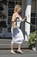 NICOLETTE SHERIDAN Out for Coffee in Calabasas 08/08/2017