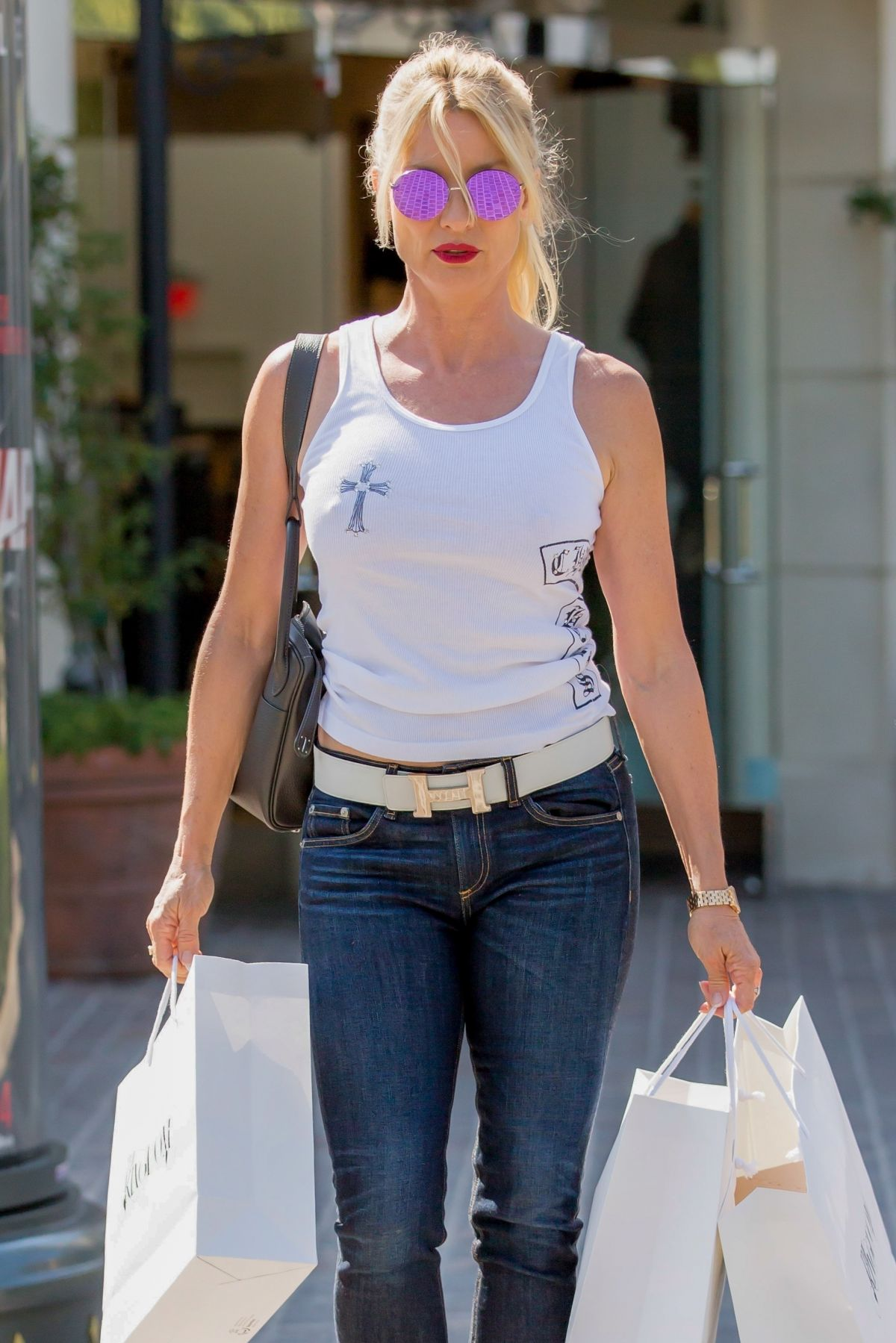 NICOLLETTE SHERIDAN Out Shopping in Calabasas 08/30/2017