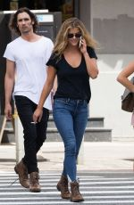 NINA AGDAL Out for Lunch at Cipriani in New York 08/23/2017