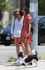 NINA DOBREV Out with Her Dog in New York 08/07/2017