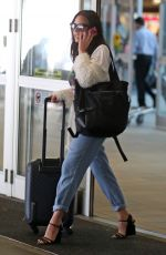 OLIVIA MUNN Arrives at Airport in Vancouver 08/28/2017
