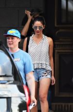 OLIVIA MUNN Arrives on the Set of The Buddy Games in Vancouver 08/14/2017