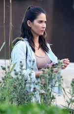 OLIVIA MUNN on the Set of Six, Season 2 at a Farm in Vancouver 08/10/2017