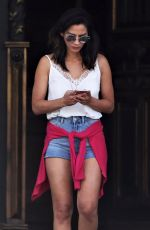 OLIVIA MUNN on the Set of The Buddy Games in Vancouver 08/15/2017