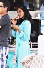 OLIVIA MUNN on the Set of The Buddy Games in Vancouver 08/16/2017