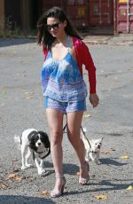 OLIVIA MUNN Out with Her Dogs in Burnaby 08/12/2017