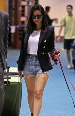 OLIVIA MUNN with Her Dogs Arrives in Vancouver 07/30/2017