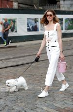 OLIVIA PALERMO Out with Her Dog in New York 08/06/2017