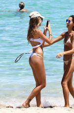 OLIVIA PASCALE and Girlfriend in Bikini at a Beach in Miami 08/30/2017