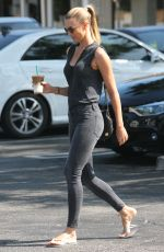 PAIGE BUTCHER Out for a Coffee in Beverly Hills 08/21/2017