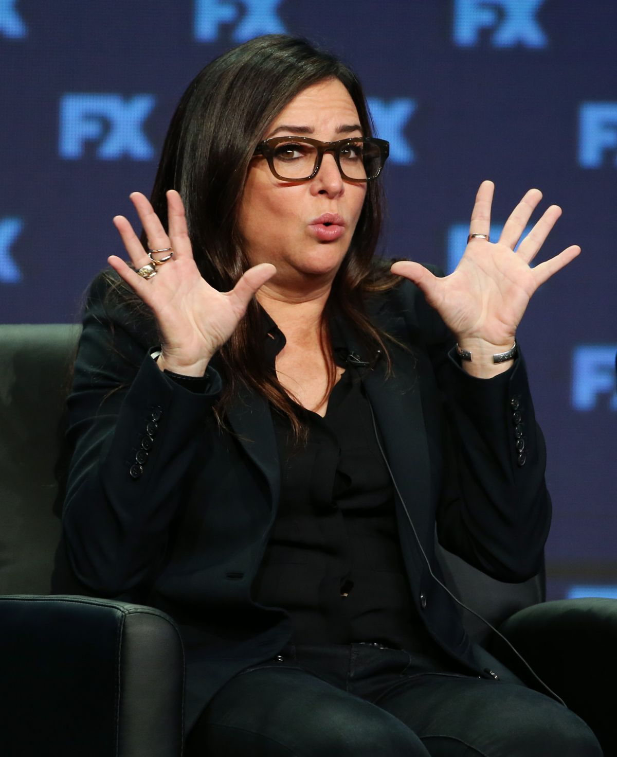 PAMELA ADLON at Better Things Panel at TCA SUMMER Tour in Los Angeles 08/09/2017