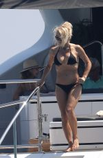 PAMELA ANDERSON in Bikini at a Yacht in French Riviera 08/04/2017