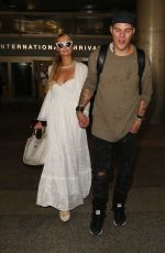 PARIS HILTON and Chris Zlyka at LAX Airport in Los Angeles 08/21/2017