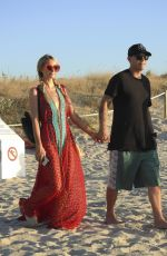 PARIS HILTON and Chris Zlyka Out for Lunch in Formentera 08/11/2017
