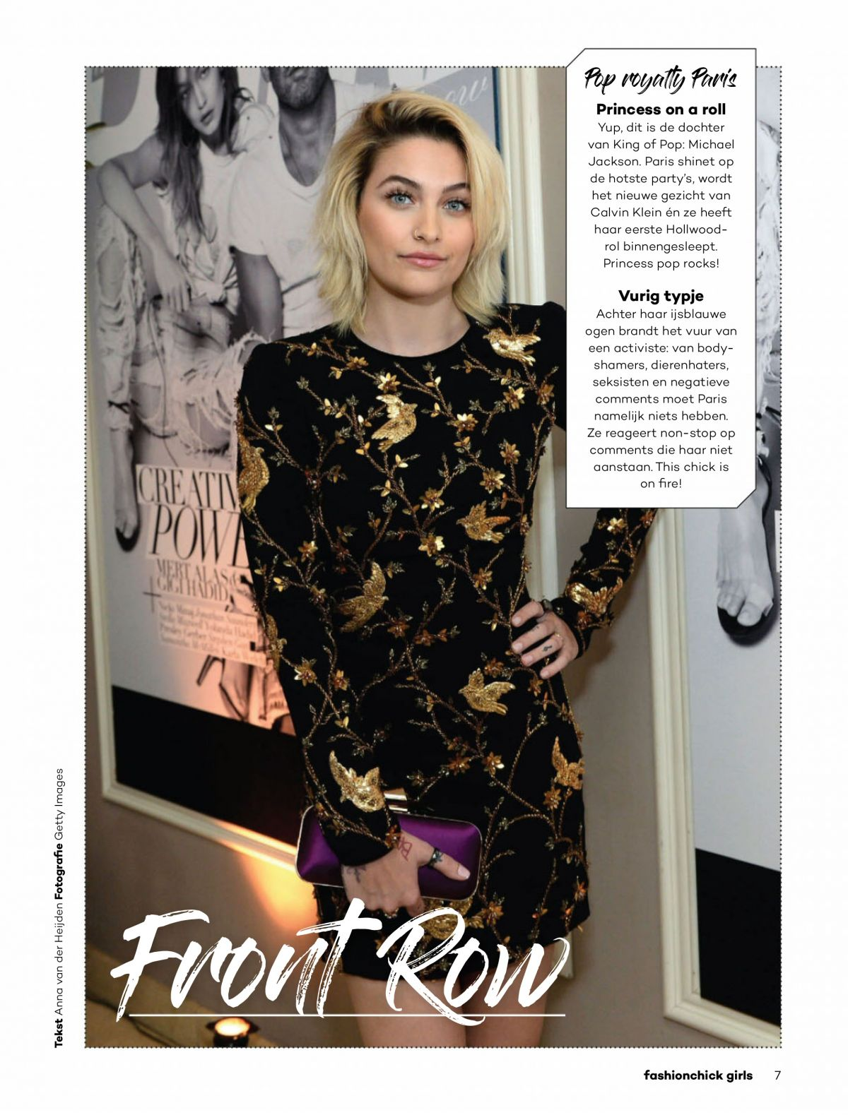 PARIS JACKSON in Fashionchick Girls Magazine, September 2017