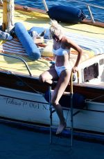 PIXIE LOTT in Bikini at a Boat in Italy 08/15/2017
