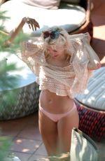 PIXIE LOTT in Knitted Mesh Top in Capri 08/16/2017