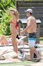 Pregnant APRIL LOVE GEARY in Bikini at a Pool Hawaii 08/17/2017