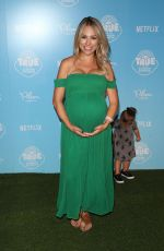 Pregnant JESSICA HALL at True and the Rainbow Kingdom Premiere in Los Angeles 08/10/2017