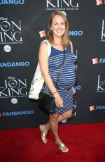 Pregnant SARA THOMPSON at The Lion King Sing-along Screening in Los Angeles 08/05/2017
