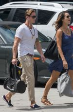 Pregnant VIVIANE THIBES and Cameron Douglas Out in New York 08/23/2017