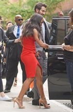 RACHEL LINDSAY and Bryan Abasolo Leaves AOL Build in New York 08/08/2017